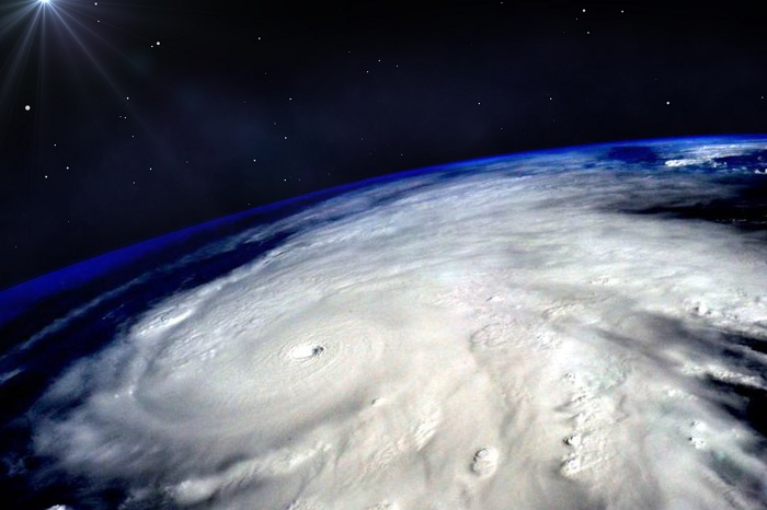 Hurricane Image From Satellite